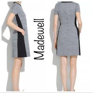 Madewell Gray Parkline black Color block dress